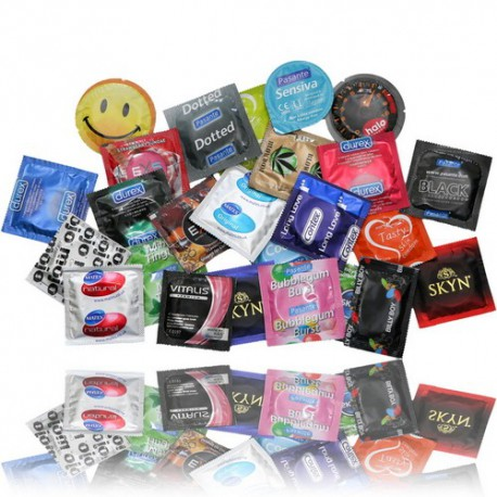 Prezervatīvu komplekts MIX 50 gab.