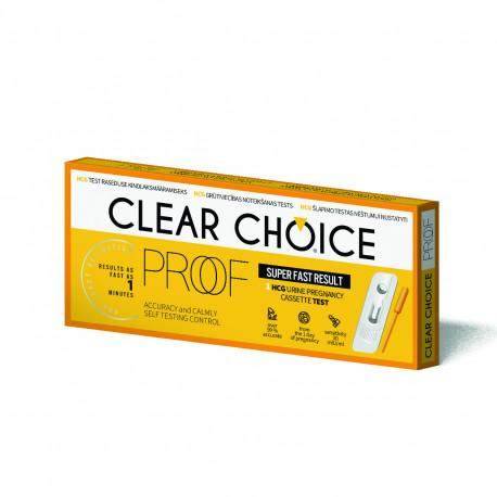 Тест на беременность Clear Choice Proof картридж