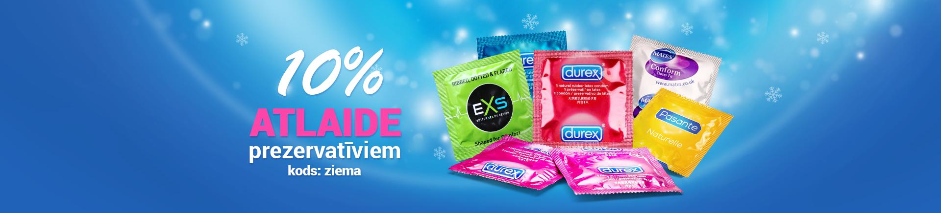 Ziemas atlaide prezervatīviem -10%